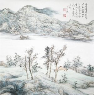 Art chinoises contemporaines - Chinese Doufang Landscape