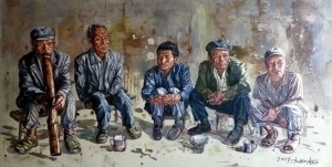 Cai Renchuang œuvre - The Old Men at Hometown