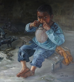 Peinture à l'huile contemporaine - The Hani Boy