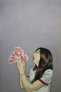 Peinture à l'huile contemporaine - Madness for Money I