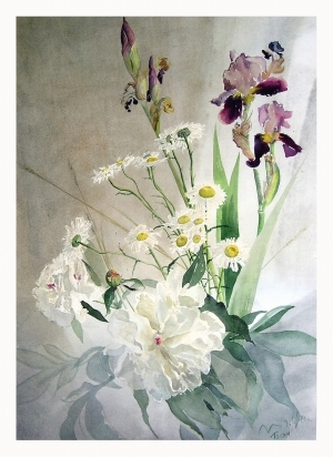 Tous les types de peintures contemporaines - Peonies and Irises