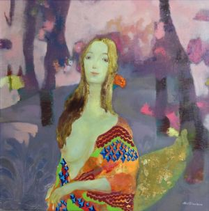 Types de peintures contemporaine - If I Smile As Bright As The Sea of Flowers Behind