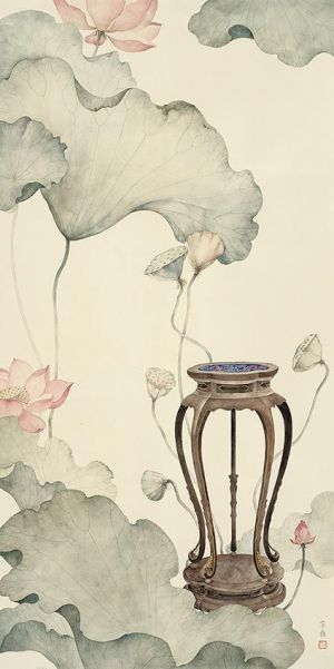 Art Chinois contemporaine - Painting of Flowers and Birds in Traditional Chinese Style 4