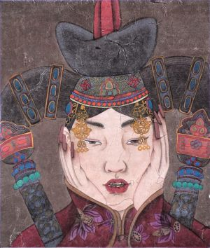Art Chinois contemporaine - Woman of Mongolia Nationality