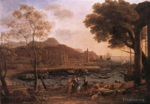 Harbour Scene with Grieving Heliades