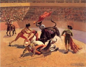 œuvre Bull Fight in Mexico