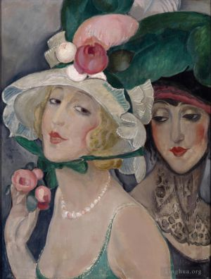 œuvre Two Cocottes with Hats Lili and friend