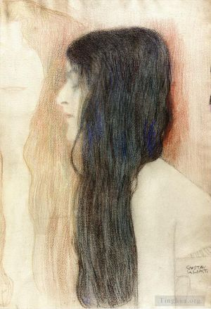 Girl with Long Hair with a sketch for Nude Veritas